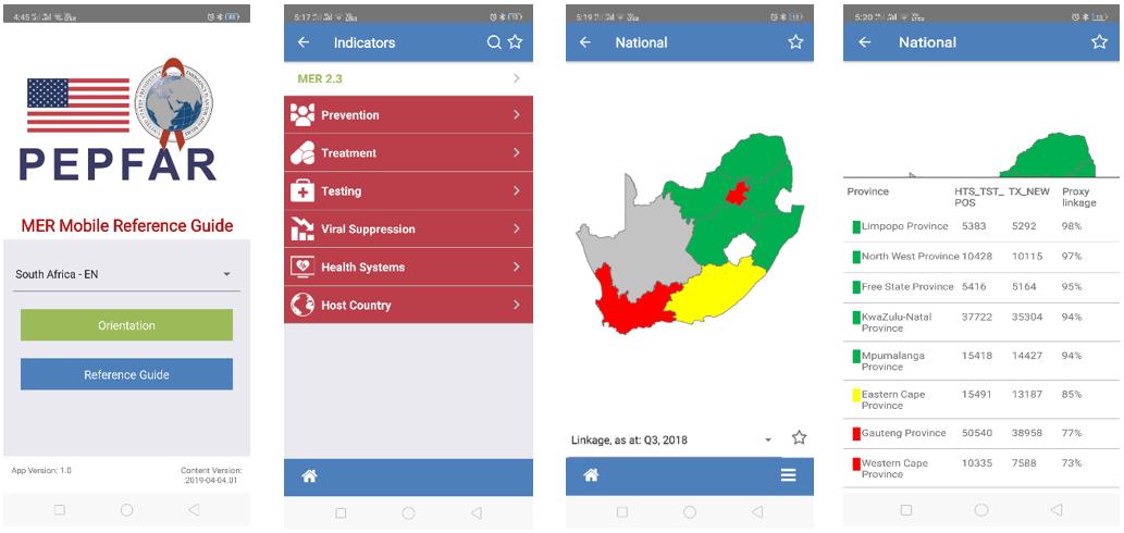 PEPFAR MER Mobile App