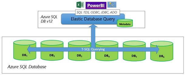 Elastic Database Query Diagram