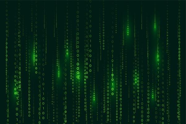 Matrix-Style Binary Code Background