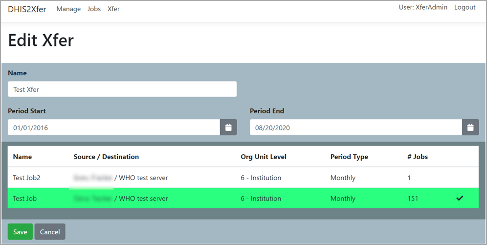 DHIS2Xfer Creating an Xfer Routine Screenshot
